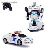 Робот радиоуправляемый «Полицейский», трансформируется, световые и звуковые эффекты