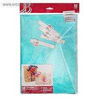 Набор для упаковки, виридан, металлик, крафт, 0,7 х 1 м х 2, лента 15 мм х 3 м х 4