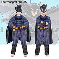 Костюм детский карнавальный раздельный с маской и плащем для мальчиков Бэтмен Batman