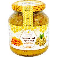 Крем-мед с курагой и грецким орехом 420 г.