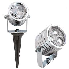 Светильник для сада R7300-SPIKE (СИНИЙ светодиод 3X1W) (TS)