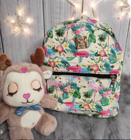 Рюкзак для девочки с фламинго
