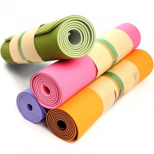 Коврик для йоги и фитнеса TPE
