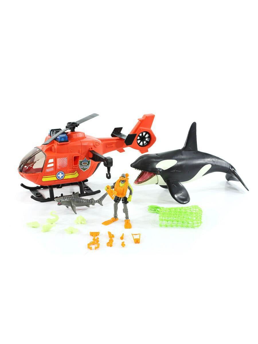 CHAP MEI / Игровой набор: Касатка с вертолетом