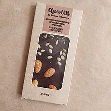 Натуральный шоколад без сахара. Ореховый микс