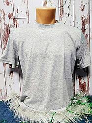 "Футболка Х/Б ""Fashion kid"", ткань Россия, цвет: серый меланж"