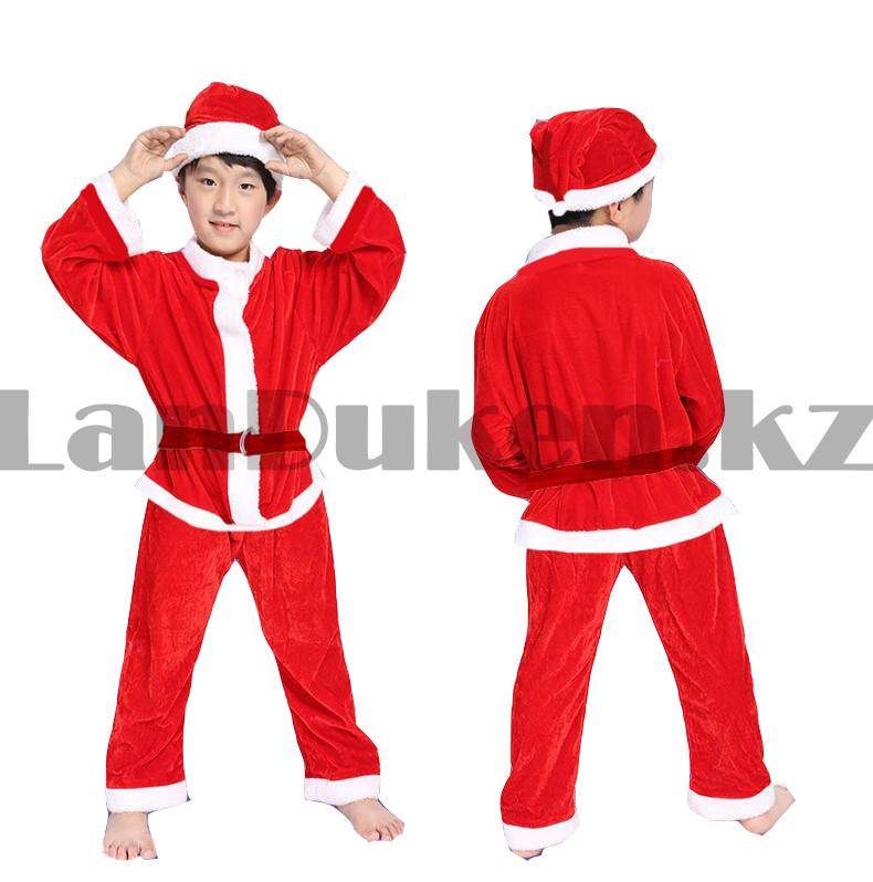 Костюм детский карнавальный раздельный Деда Мороза Аяз Ата красный - фото 10