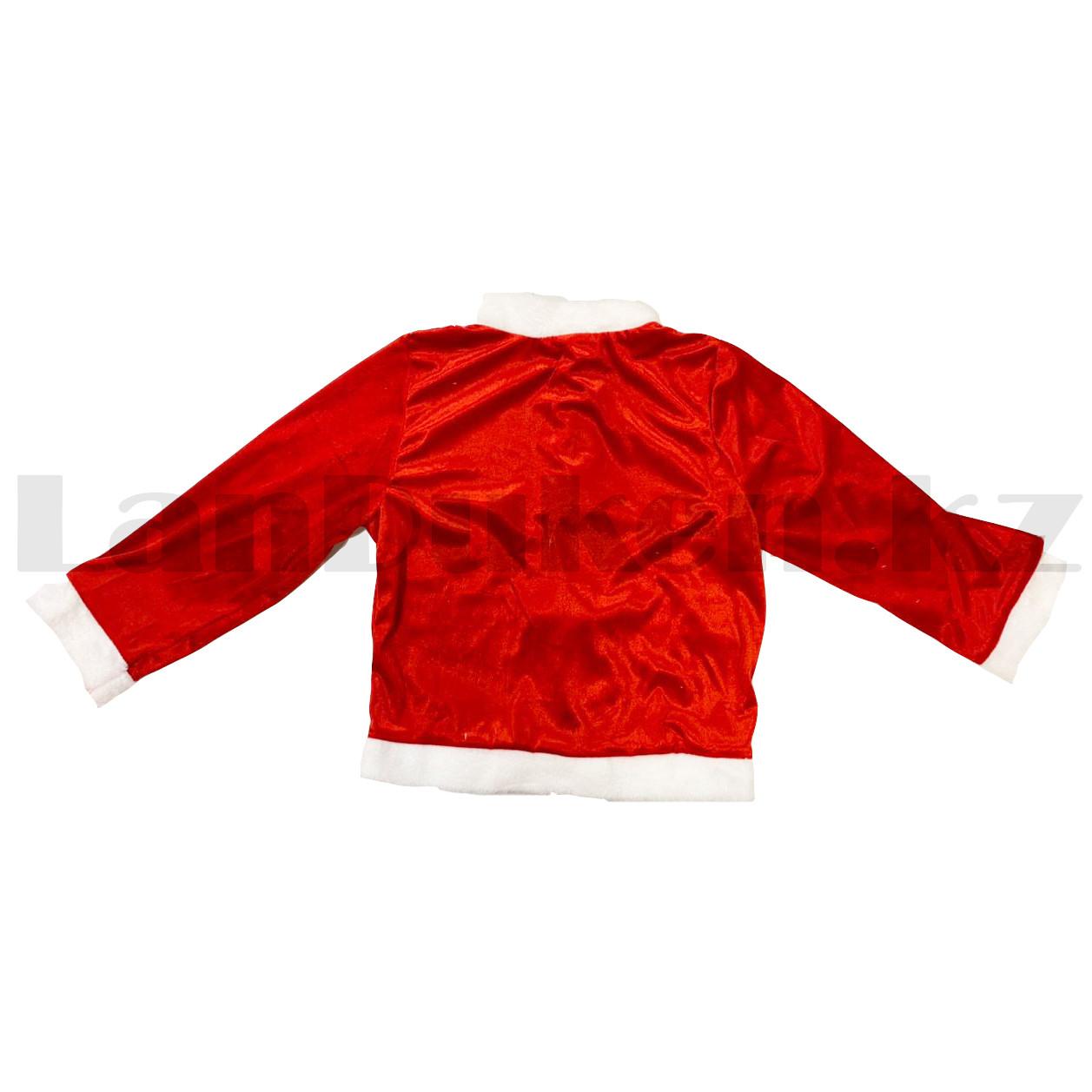 Костюм детский карнавальный раздельный Деда Мороза Аяз Ата красный - фото 4