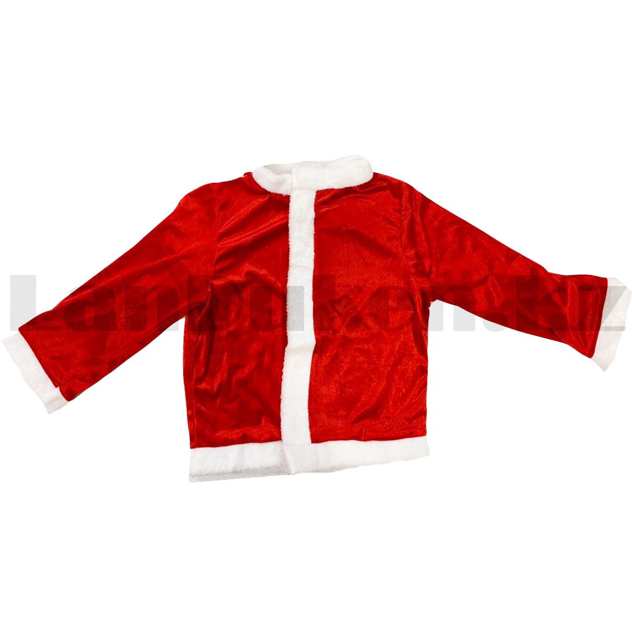 Костюм детский карнавальный раздельный Деда Мороза Аяз Ата красный - фото 3