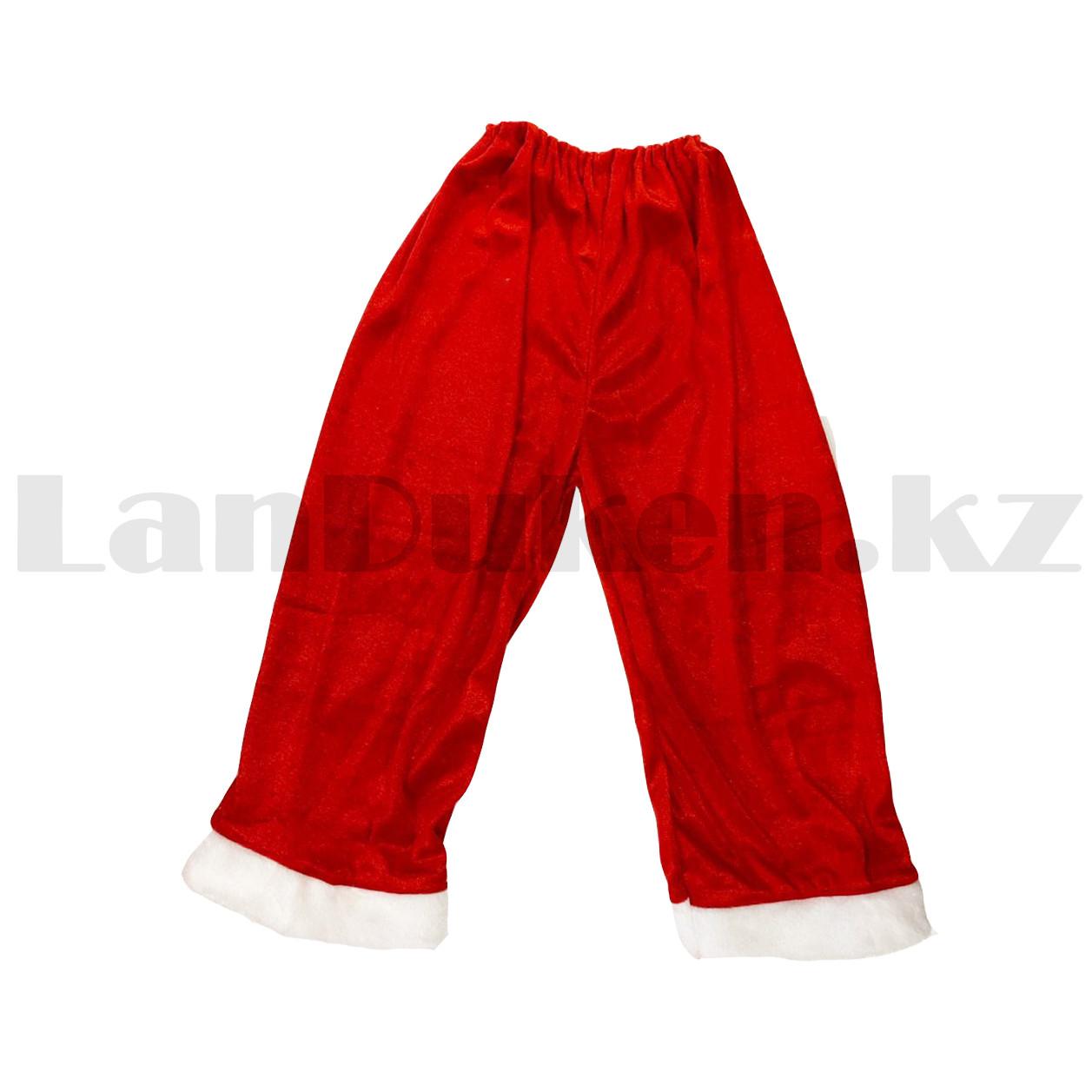 Костюм детский карнавальный раздельный Деда Мороза Аяз Ата красный - фото 6