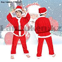 Костюм детский карнавальный раздельный Деда Мороза Аяз Ата красный