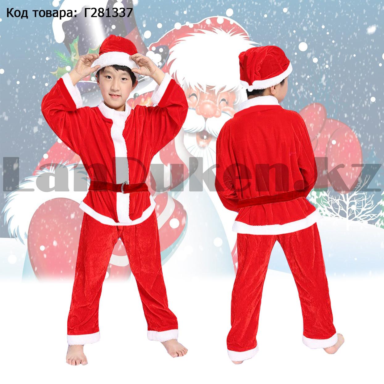 Костюм детский карнавальный раздельный Деда Мороза Аяз Ата красный - фото 1