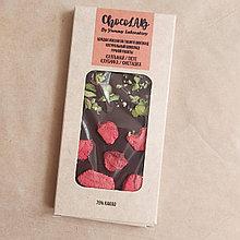 Натуральный шоколад без сахара. Клубника и фисташки