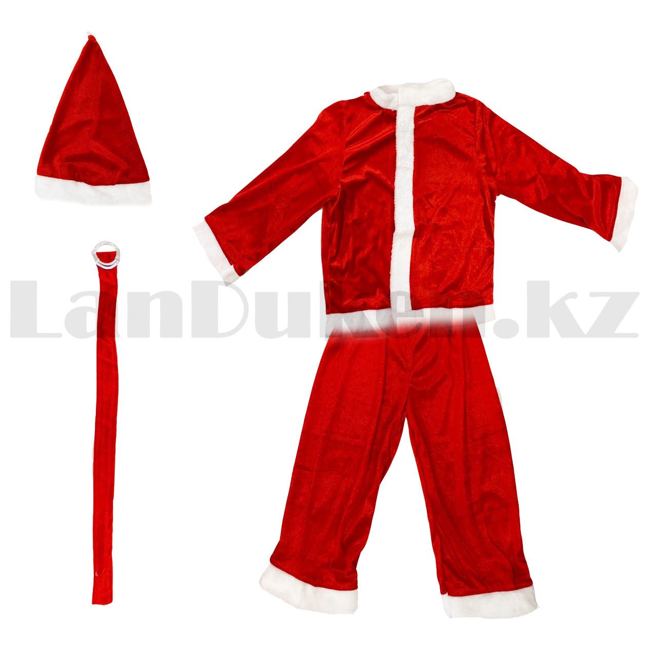 Костюм детский карнавальный раздельный Деда Мороза Аяз Ата красный - фото 2