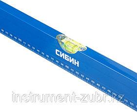 Уровень СИБИН коробчатый, 3 противоударных ампулы, измерительная линейка, 150см, фото 3