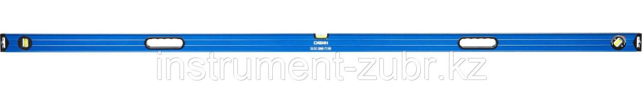 Уровень СИБИН усиленный, 2 фрезерованные поверхности, 3 ампулы (1 поворотная на 360 град), с ручками, 2