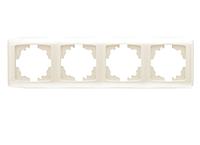 Рамка для розеток и выключателей горизонтальная CARM KREM 4LU YATAY CERC
