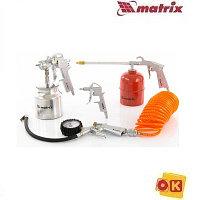 Набор пневмоинструмента, 5 предметов, MATRIX 57302