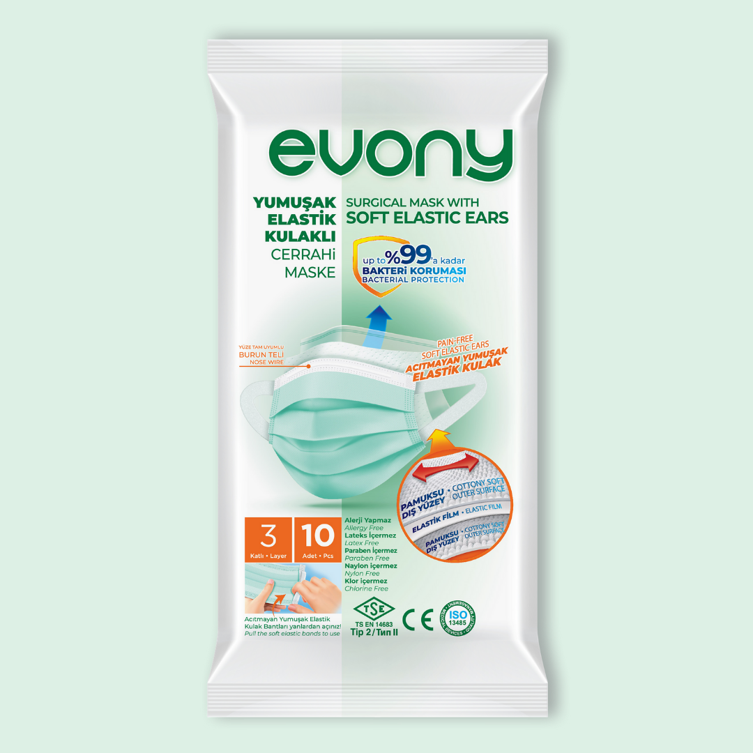 Медицинские маски EVONY 10 шт/уп