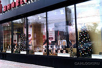 Украшение витрин магазинов на новый год