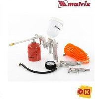 Набор пневмоинструмента, 5 предметов, MATRIX 57304