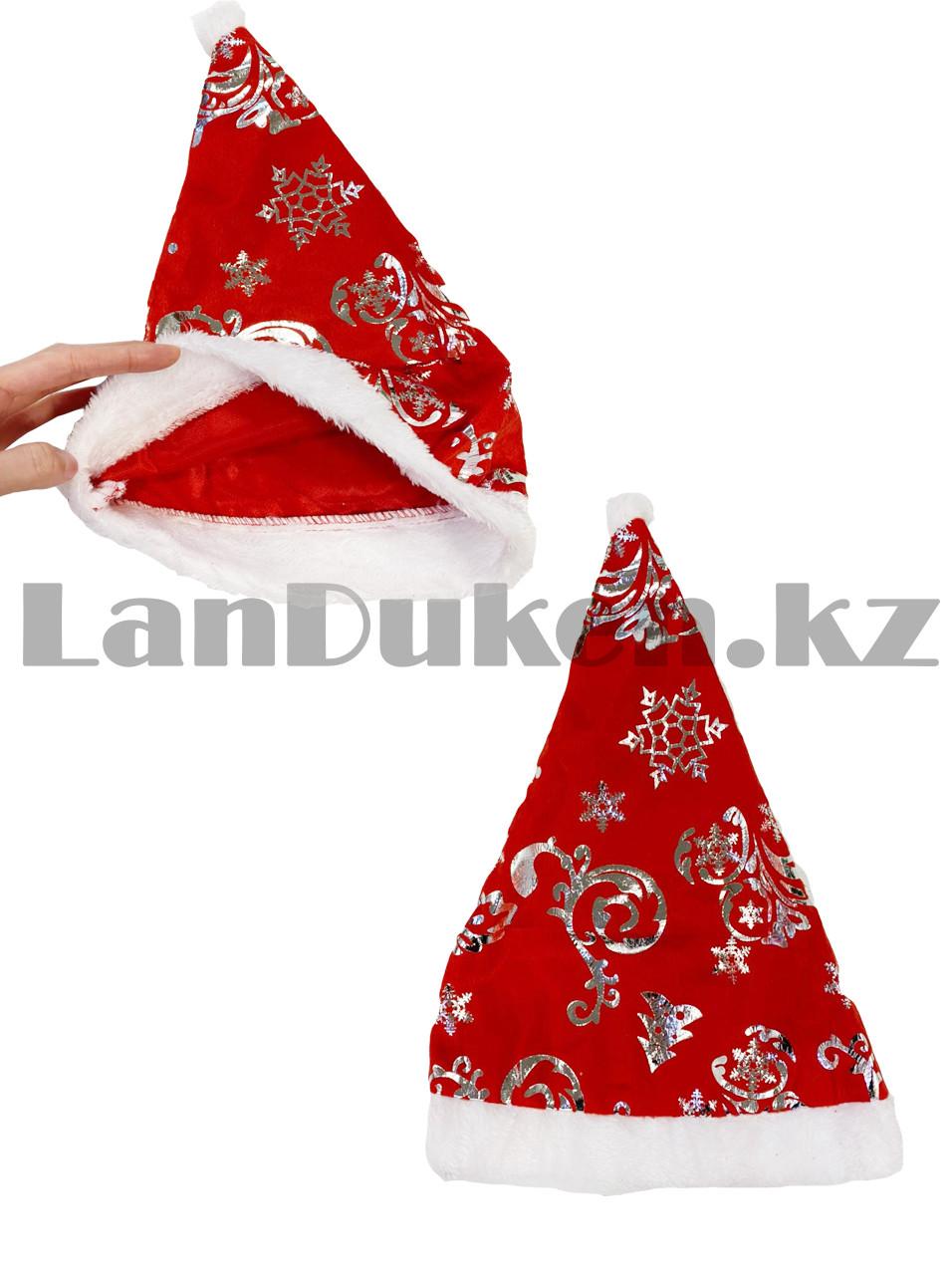 Костюм детский карнавальный раздельный Санты Клауса Santa Claus с узором - фото 5