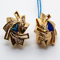 Золотые сережки 585 проба