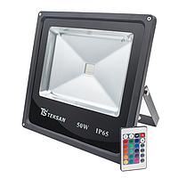 Прожектор светодиодный FD1002 20W RGB ЧЕРНЫЙ с пультом P65 (TS)