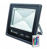Прожектор LED FD1005 50WRGB ЧЕРНЫЙ с пультом IP65 (TS)