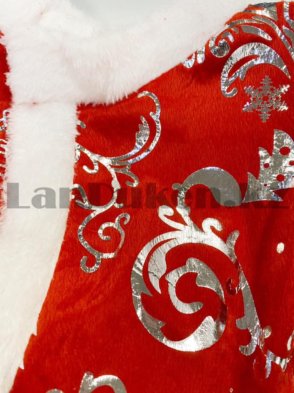 Костюм детский карнавальный раздельный Санты Клауса Santa Claus с узором - фото 10