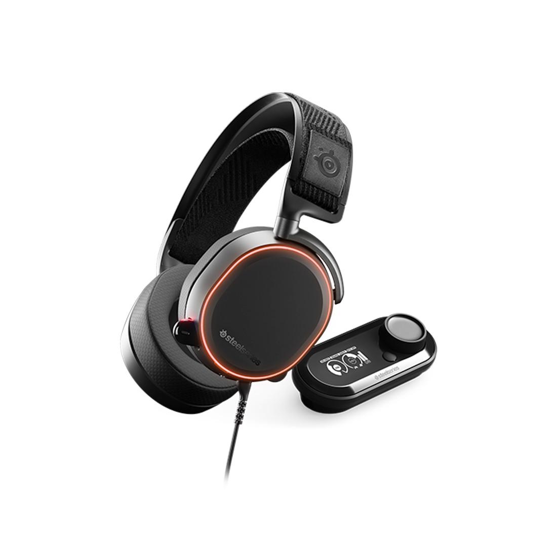 Гарнитура, Steelseries, Arctis Pro + GameDAC 61453, Игровая гарнитура, Микрофон выдвижной гибкий, Пу
