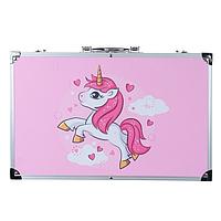 Набор для рисования детский Большой 145 предметов чемодан
