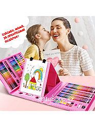 Набор для художника РАСКРАСКИ в Подарок мольберт 208 предметов для детей