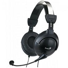 Genius HS-M505X Наушники проводные с микрофоном, 20 Гц-20 кГц, 32 Ом, 115 дБ, mini jack 3.5 mm combo, Black