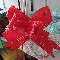 Подарочный бант для оформления корзин и коробок красный