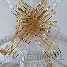 Подарочный бант для оформления корзин и коробок золото