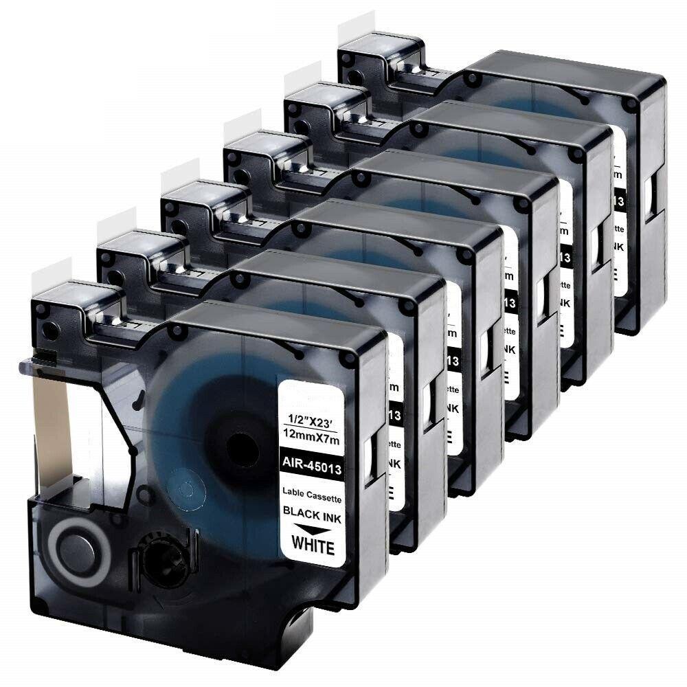 Термоусадочная трубка Dymo S0718280/18053 (9 мм, черный на белом)