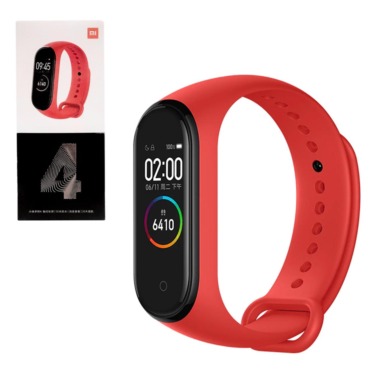 Смарт-браслет Xiaomi Mi Band 4, Red