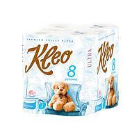 """Бумага туалетная """"Kleo Ultra"""", 3 слоя, 8 рулона, 8 шт"""