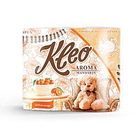 Бумага туалетная Kleo аромат Мандарин, 3 слоя, 4 рулона, 4 шт