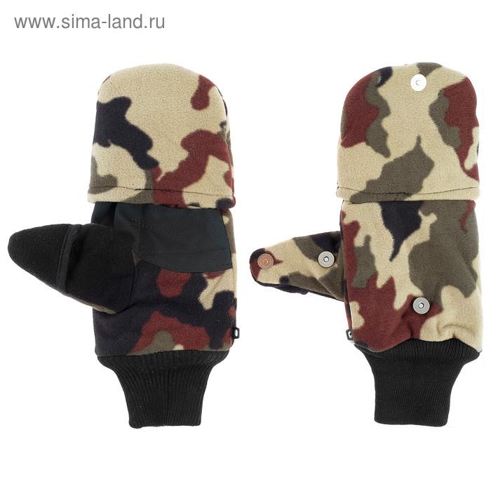 Перчатки из флиса с магнитом (камуфляж) - фото 3