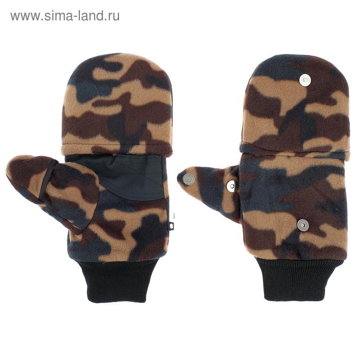 Перчатки из флиса с магнитом (камуфляж) - фото 4
