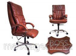 Офисное массажное кресло EGO BOSS EG1001 Махагон в комплектации ELITE (натуральная кожа)
