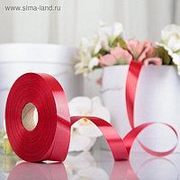 Лента для декора и подарков, красный, 2 см х 91 м