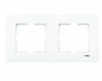 Рамка для розеток и выключателей горизонтальная KARRE BZ 2LI YATAY CERC