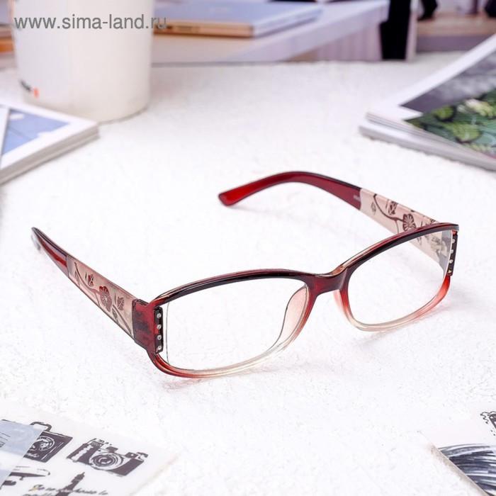 Очки корригирующие 6621, размер 13,2х12,6х4,1, цвет бордовый, -1,5 - фото 1