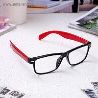 Очки корригирующие 6619, размер 14,1х13,5х4, цвет красно-чёрный, -2,5