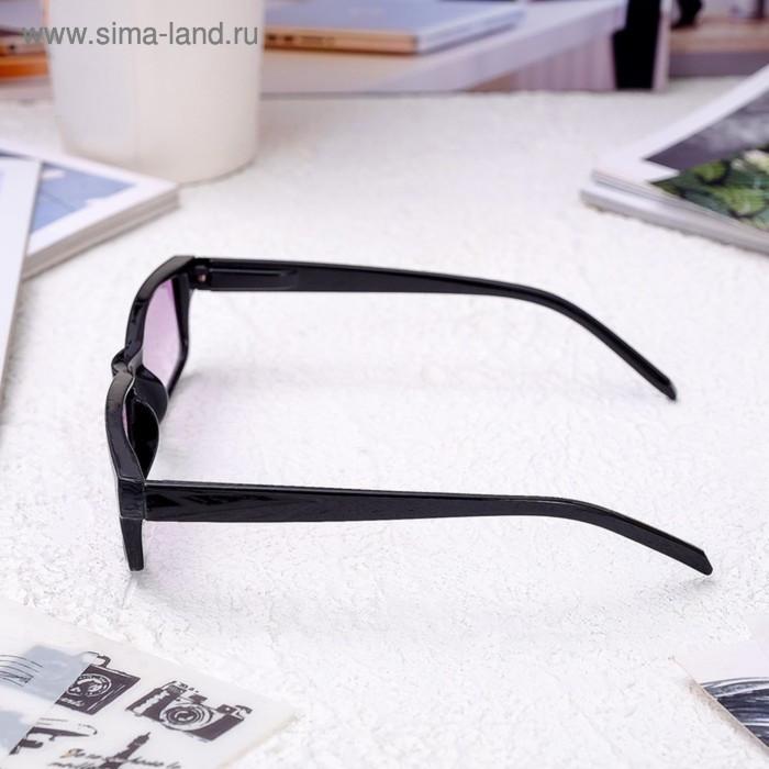Очки корригирующие 6617, размер 13,5х13,2х3,4, цвет чёрный, тонированные, отгибающаяся дужка, -3 - фото 3