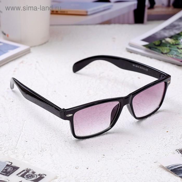 Очки корригирующие 6619, размер 14,1х13,5х4, цвет чёрный, тонированные, -1 - фото 1