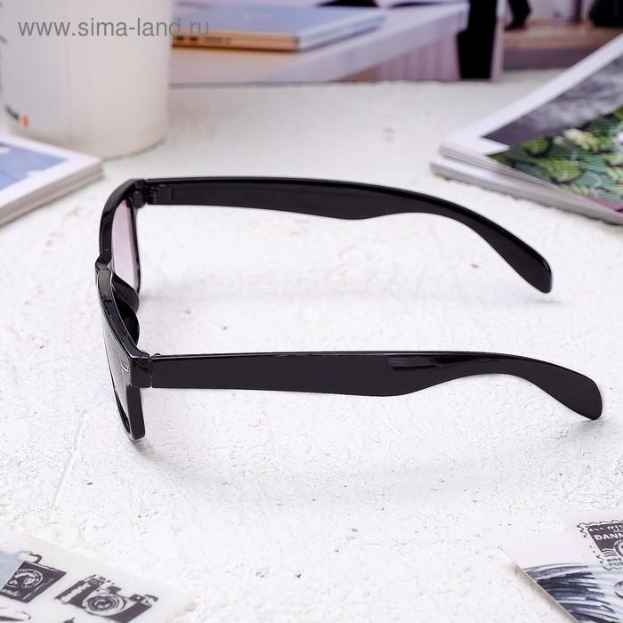 Очки корригирующие 6619, размер 14,1х13,5х4, цвет чёрный, тонированные, -1 - фото 3